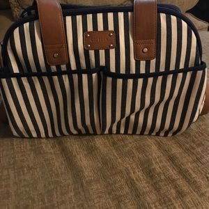 NWOT Carter's diaper bag navy and brown
