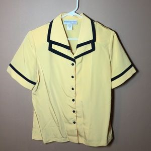 Vintage sailor collar button down blouse
