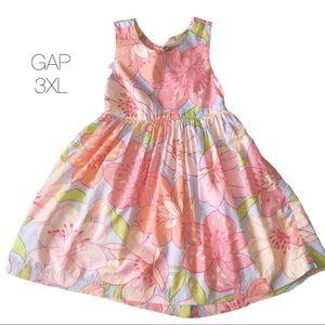 Baby Gap Pink Purple Floral Flare Dress 3XL