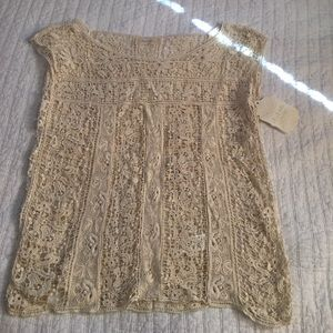 Altar'd State Lace Shell Top size Small NWT