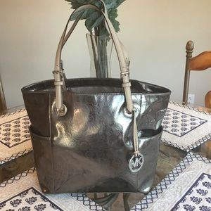 New authentic Michael Kors metallic tote