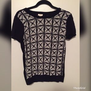J. Crew Geometric blouse