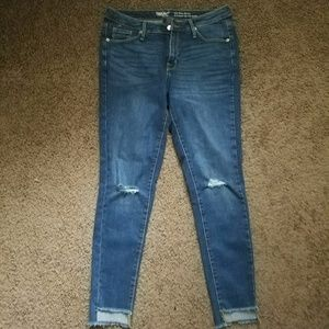 Mossimo - Destroyed raw edge skinny jeans