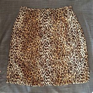 Vintage Charlotte Halton Leopard Skirt