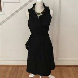 Sleeveless Wrap LBD