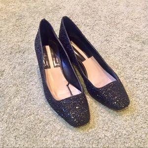 ZARA basic glitter heels