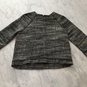 Zara tweed woven top S