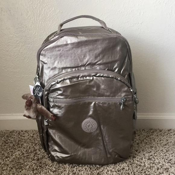 c4aaf1ae8d Kipling Seoul Large Backpack - Metallic Pewter