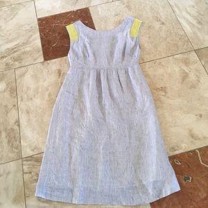 Beautiful j crew 100% linen dress with pockets!