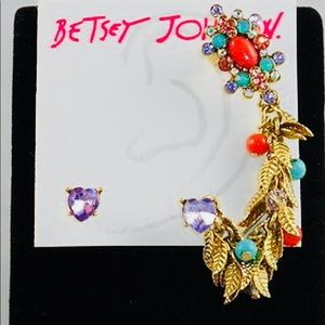 "Betsey Johnson ""Betsey's Delicates"" Heart Studs"