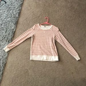 Pink/red fossil sweater. XS