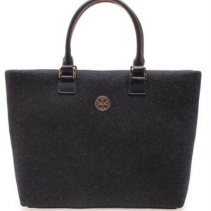 Tory Burch Dena Wool Flannel Tote