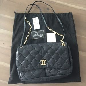 CHANEL classic bag with vintage chain strap