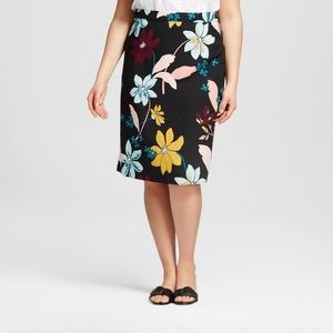 Who What Wear Floral Pencil Skirt, New With Tags