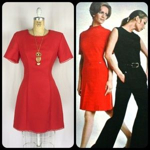 Vintage 1960's Style Scooter Mini Mod Go-Go Dress