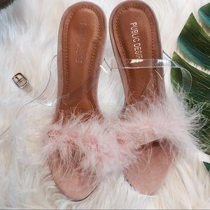 Public Desire Light Pink Poof Heels