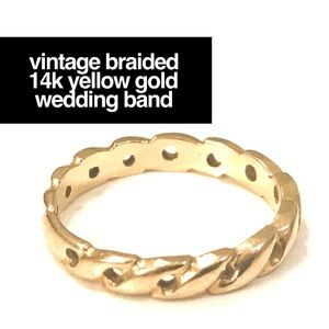 Jewelry - 🔥14K SOLID YELLOW GOLD CELTIC TWIST WEDDING BAND
