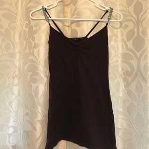 Forever 21 brown tank top w/ beaded straps