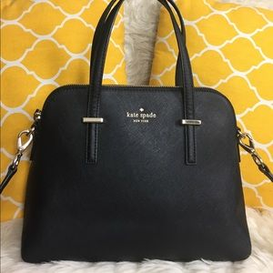 🌸OFFERS?🌸Kate Spade All Leather Black Satchel