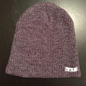 NEFF Unisex Purple Knit Beanie