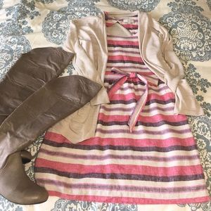 Loft striped linen dress