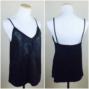 Zara Faux Leather Sleek Tank