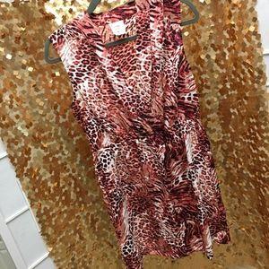 Cheetah/leopard print summer dress