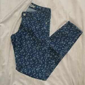 "Old Navy ""The Rockstar"" Floral Skinny Jeans"