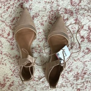Zara pointed toe nude blush size 6 flats- new
