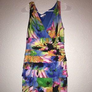 Abstract flower print dress