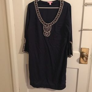 NWOT Lilly Pulitzer Navy Midi Dress- Size L