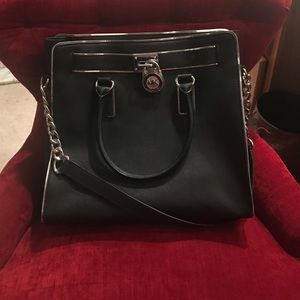 Michael Kors black and silver purse