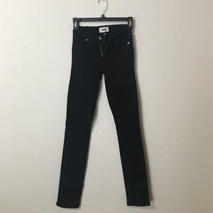 Paige Verdugo Ultra Skinny denim in black size 24