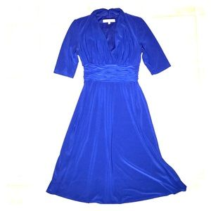 Evan-Picone Royal Blue Dress
