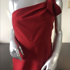 Ann Taylor red cocktail dress size 6.