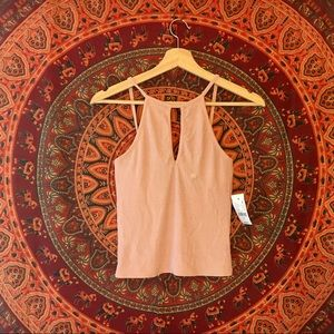 NEW PacSun pink halter cut out tank