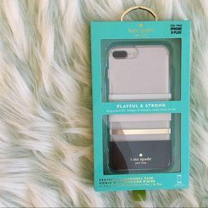 NWT kate spade protective hardshell case iPhone 8+