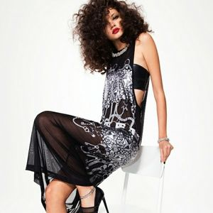 NASTYGAL collection chaos theory mesh maxi dress