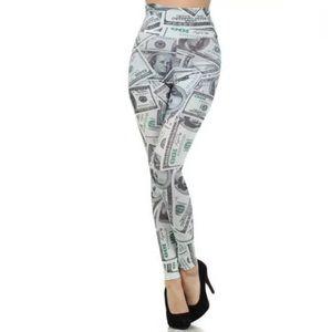 Hundred Bill Money High Waist Leggings
