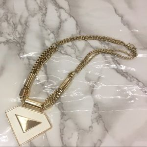 Gold White necklace