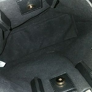 Nordstrom Bags - 10 in x 12 in Black fake leather tote with strap