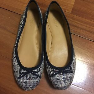 JCrew Tweed Flats