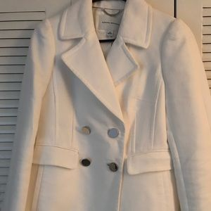 Banana Republic White Pea Coat