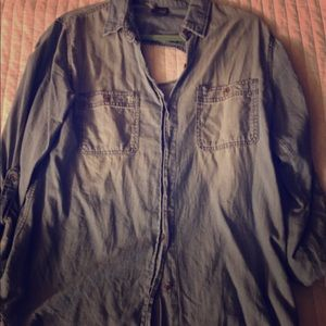 Urban outfitters chambray top size large