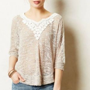 Anthropologie meadow rue light sweater small