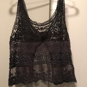 Lace crop top - Urban Outfitters