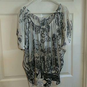 Charlotte Russe short sleeve blouse L