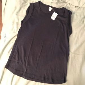 Rolled-Sleeve tank top - J. crew - sz S - NWOT