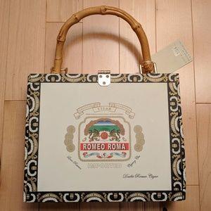 NWT Prezzo Cigar Box Purse w/ Beaded/Sequin Detail