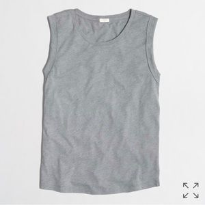 J. Crew rolled-sleeve tank top - size S - Grey